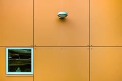 Corner View (jgottlieb) Tags: window wall orange grid light seattle eastlake wa washington building leica mp typ 240 35mm summilux fle