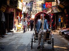 the Rickshaw driver, Thamel, Kathmandu, Nepal (CamelKW) Tags: abc annapurnabasecamptrek annapurnaregiontrek annapurnasanctuary fishtail kathmandu mbc machapuchare machapucharebasecamp nepal pokhara trekking therickshawdriver thamel