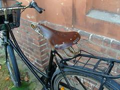 Monströser Sattel ... (bayernernst) Tags: 2009 oktober 19102008 sn208303 alt old oldstuff fahrrad sattel fahrradsattel leder