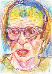AMÉRICA JOVA (GARGABLE) Tags: portrait retrato sketch drawings dibujos angelbeltrán apuntes gargable américajova