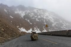 """Add your favourite roadblock quote here: """"....."""" (ctheisinger) Tags: rock road bend street roadblock fog mountain china clouds abazangzuqiangzuzizhizhou sichuansheng cn"""