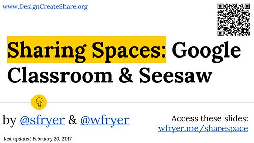 Sharing Spaces- Google Classroom & Seesa by Wesley Fryer, on Flickr
