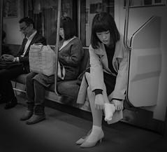 Socks (Bill Morgan) Tags: fujifilm fuji x100f jpeg bw street kichijoji tokyo