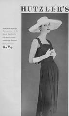 Ben Reig for Hutzler's 1956 (barbiescanner) Tags: vintage retro fashion vintagefashion 50s 50sfashion vogue vintagevogue vintageads benreig hutzlers annestmarie