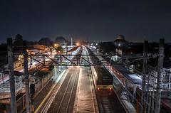 Cilebut Station (Vicky Ming Alditiara) Tags: d7000 nikon nikond7000 indonesia hdr stasiun train kereta api sepur people bogor krl cilebut bojong empty tokina tokina1224 west java