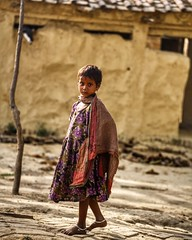 Little wanderer ~ India (~mimo~) Tags: village mudhouse outdoor color photography street travel child girl varanasi asia india