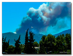 20080625_1322 (gabrielpsarras) Tags: sky cloud mountain tree fire smoke athens attica ymittos