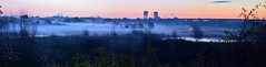 Teeside Marshes (Andy J Newman) Tags: panorama mist dawn nikon stockton barrage tees marshes teeside