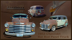 1953 Chevrolet Rat Rod Panel Truck (Brad Harding Photography) Tags: chevrolet truck rust whitewalls riverside antique utility chevy chrome restored restoration 53 1953 grandnational ratrod 3100 paneltruck pontiacchief