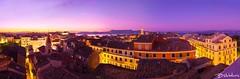 Into the colors of twilight - Corfu old town (Bill-Metallinos) Tags: new pink sunset red orange heritage island twilight san unesco greece esplanade corfu korfu kerkyra fortress ionian kerkira spyridon spianada
