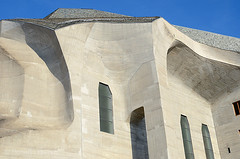 Architectural detail, The Goetheanum, Dornach, Switzerland. The building is the headquarters of the Anthroposophical movement. (Roberto Herrett) Tags: detail horizontal closeup architecture outside switzerland exterior nobody architectural shape stockphoto goetheanum dornach rherrettflk