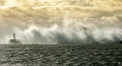 Stormy Seas (Andi Pope) Tags: autumn sea lighthouse water landscape sussex nikon newhaven stormyseas d80 sussexvistas