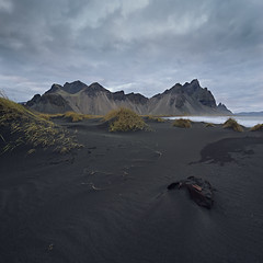 Stokksnes and Vestrahorn (Subversive Photography) Tags: sea black beach nature clouds landscape iceland sand rust mood wheat dunes alien barrel rusty atmosphere desolate otherworldly vestrahorn stokknes 17mmtse sonya7r