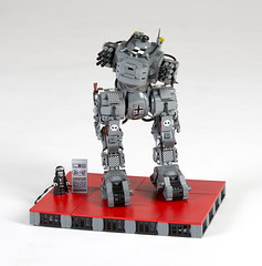 "The Iron Wolf with codename ""Vergeltung"" (Hammerstein NWC) Tags: germany nazi hard revenge walker hardcore scifi ww2 plates fi sci mecha mech tracked biped dieselpunk brickarms eclipsegrafx"