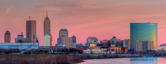 Indianapolis Skyline (www.22NorthPhotography.com) Tags: city sunset urban skyline print photo downtown framed indianapolis cities indiana photograph whiteriver frame prints www22northphotographycom 22northphotography