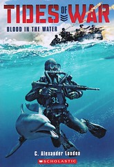 Blood in the Water (Vernon Barford School Library) Tags: new school fiction london water animal reading book high blood marine war unitedstates dolphin library libraries c tide north navy reads books korea submarine read paperback cover seal dolphins program junior seals novel covers wars bookcover alexander middle vernon recent submarines tides bookcovers paperbacks northkorea novels fictional barford seaofjapan softcover vernonbarford softcovers humananimalrelationship 9780545662987 marineanimalprogram