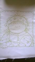Tecido bordado avulso (Artices da Zappa - Artesanatos feitos com Amor.) Tags: da ponto almofada vovó tecido bordado colcha bonequinha atrás unicolor avulso