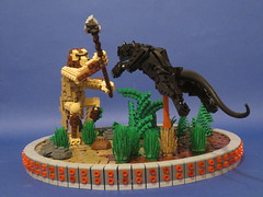 "What the cat ate 500 000 years ago. (Deus ""Big D."" Otiosus) Tags: by cat lego air pillar evolution suspended prehistoric panther caveman blahblahblah moc diarrhea pressurized mocolympics"