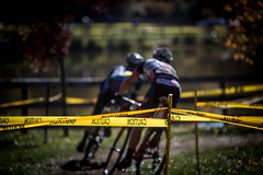 Caution (geoffmart65) Tags: fall bike bicycle yellow race canon ma eos cycling cross bokeh newengland cx racing tape caution lancaster 5d cyclocross minuteman mrc mkiii 70200l necx