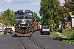 NS 8932, NS Marion District, Warsaw, Indiana (monon738) Tags: railroad train pentax ns engine indiana railway locomotive ge k5 unit freighttrain norfolksouthern railfanning dash944cw diesellocomotive dash9 streetrunning c449w 944cw warsawindiana gec449w smcpda50135mmf28edifsdm ns8932 ns312 nsmariondistrict nsmarionbranch