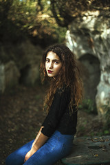 (roxanavoloseniuc) Tags: autumn brown hair long curly denim