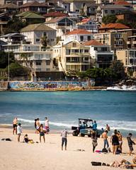 Bondi Beach (dlerps) Tags: ocean city houses sea people urban beach water bondi sand surf waves sony sydney sigma australia shore newsouthwales bondibeach citybeach wellen brandung sigmaapo70200mmf28exdghsm lerps sonyalphadslr bondicoogeewalk sonyalphaa77v daniellerps