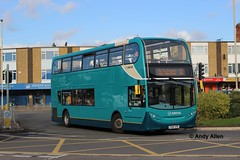 Arriva Midlands 4424 YX64VPE (Andy4014) Tags: bus leicester 400 alexander dennis sapphire enviro oadby arrivamidlands yx64vpe