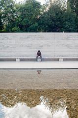 Less is more (La T / Tiziana Nanni) Tags: portrait man reflection lines portraits luca miesvanderrohe riflessi ritratti ritratto barcellona lessismore manportrait iamyou tizianananni