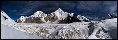 From the Upper Inylchek Glacier I (doug k of sky) Tags: panorama landscape republic doug tian panoramic glacier upper khan kyrgyz shan kyrgyzstan tien tengri inylchek mountainscapes engilchek kofsky