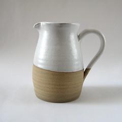 White Jug (Jude Allman) Tags: white ceramic ceramics crafts craft pot pots jude clay jug pottery jugs pitcher pitchers stoneware allman
