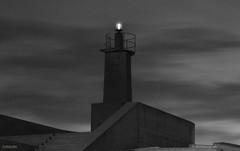 El far ( alfanhu) Tags: sky blackandwhite lighthouse blancoynegro architecture clouds faro arquitectura nightshot nubes far nvols villajoyosa lavilajoiosa