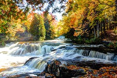 Rapids At Bond Falls (Robert F. Carter) Tags: bondfalls rapids autumn fall fallcolors rivers waterfalls robertcarterphotographycom ©robertcarter puremichigan