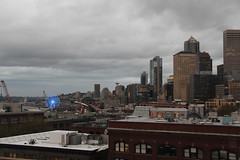 Cloudy downtown Seattle