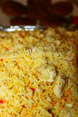 Traditional Pilau rice served with Shami kabab and a raita (WorldClick) Tags: life food colour canon tomato photography cuisine eos photo fry yummy asia flickr photographer with rice indian traditional tomatoes spice rita salt vivid tasty powder east onions photograph delight lamb served pakistani yoghurt taste chilli yogurt capture tilda coriander turmeric cumin eastern kebab masala lentils haldi flavour raita pilau cusine clove infused basmati jeera kabab bangladeshi keema shami kima phototgraphy dhaniya 1100d zeera ghosht canoneos1100d worldclick pakistaniandbangladeshi traditionalpilauriceservedwithshamikababandaraita