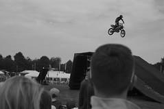 Landing On His Head (pigpogm) Tags: show bike jump ramp audience photos head motorbike stunt middevonshow squibbfreestyle voigtlander40f14 mxpp