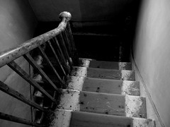 Stairs  (Explore 08/10/14) (only lines) Tags: house stairs kent down handrail balustrade folkestone