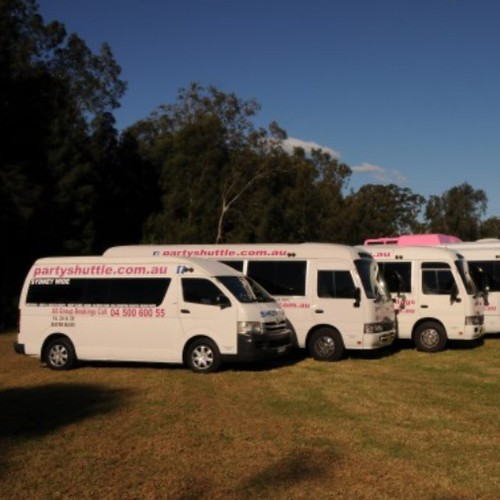 Escape the heat in our air conditioned party buses.