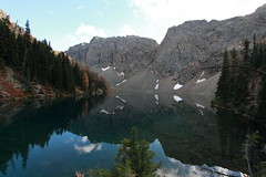 Blue Lake Reflections (Shutterbug Fotos) Tags: autumn color colour fall nature beautiful beauty scenic washingtonstate northcascades mountainloophighway highway20