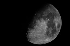 Moon in B&W (P.Johnston PJ8) Tags: blackandwhite moon night photography photos lucky date lunar pj8 pj8photography
