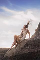 Tau'olunga Dancer on Rocks (*KIKITA*) Tags: ocean sky woman beach girl youth coast daylight dance costume nikon rocks waves dress natural fineart culture naturallight dancer teen human tradition youngwoman cultural tonga darkhair polynesian tongan nikond90 ffemale thetonganproject