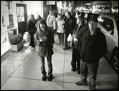 Balboa Island Street Scene (greenthumb_38) Tags: street people blackandwhite standing walking blackwhite walk streetscene duotone balboa shoppers balboaisland jeffreybass