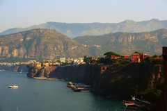 Sorrento Coast (Doodles N' Dabbles) Tags: ocean italy mountains water bay coast dock scenery cliffs coastline sorrento