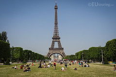 Eiffel Tower at the end of the Champs de Mars