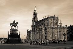 Dresden Theaterplatz (nemodoteles) Tags: vintage dresden dom retro theaterplatz hofkirche