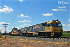 NR1, NR101 & 9311 head out of Junee with the 1WX2 steel train. (Australian Trains) Tags: railroad train photography track power diesel photos transport australian tracks engine rail railway loco trains class corey transportation locomotive gibson railways gauge locomotives railroads railpage