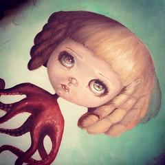 WIP (Taradolls, Un Monde de Poupes) Tags: art painting bigeyes doll ooak surrealism wip fantasy oil octopus blythe lowbrow popsurrealism