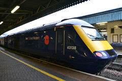 Poppy HST - 43138 (AJHigham) Tags: station speed train bristol temple high weekend great first class poppy western remembrance vinyls 43 hst meads fgw 43138