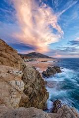 Swirling Sky and Sea (Kirk Lougheed) Tags: ocean california statepark sunset seascape landscape coast pacific bigsur shore garrapatastatepark garrapata