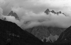 The top clouds.. (Robyn Hooz) Tags: mountains clouds montagne nuvole low alto trentino dolomiti cime basse adige