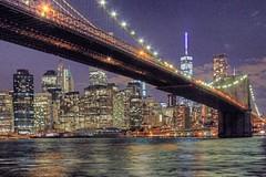 NYC After Dark (ClarkT1957) Tags: newyorkcity newyork brooklyn manhattan dumbo brooklynbridge eastriver